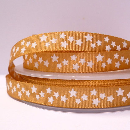 Double Sided Star Ribbon :: Mustard
