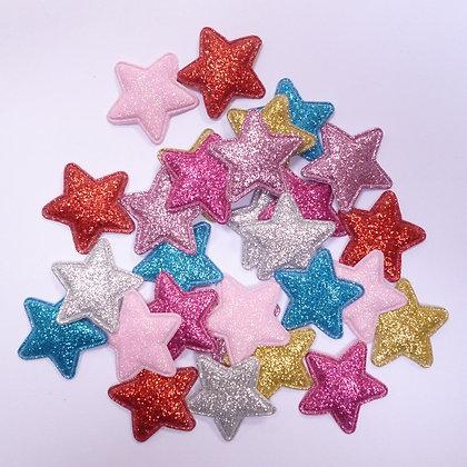 Bright Fine Glitter Stars :: pack of 28