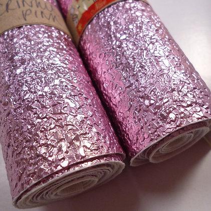 Vinyl Remnant Roll :: Crinkle :: Pink