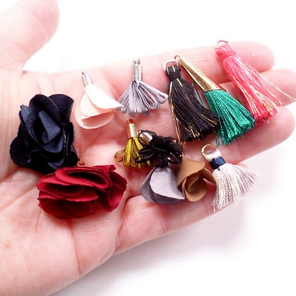 Pack of Mixed Tiny Tassels