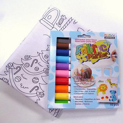 Colour In Kit - Marvy Marker Pens
