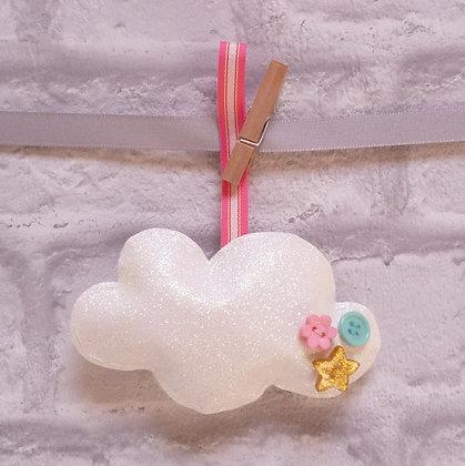Handmade :: Fluffy Cloud :: M Fine Glitter Pink