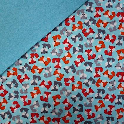 Fabric Felt :: Zoologie Mini Fox on Turquoise