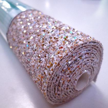 Medium Glitter roll :: White Mix :: Gold Confetti