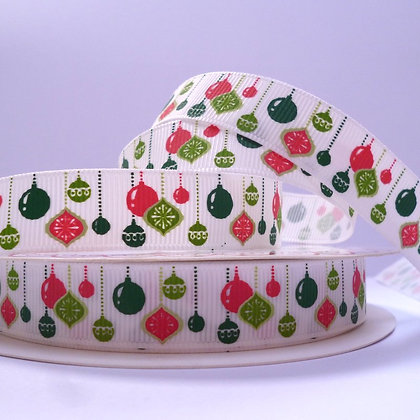Christmas Grosgrain Ribbon :: Hanging Baubles