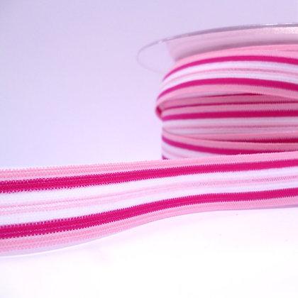 Pattern Fold Over Elastic :: Pink Stripes