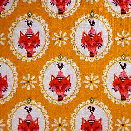 Fabric :: Vintage Kitchen :: Yellow Cat