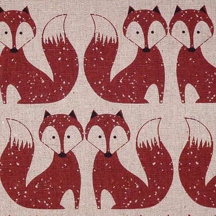 Fabric :: Cotton Linen :: Foxes