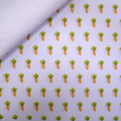 Artisan Fabric Felt :: Carrot Crop on White