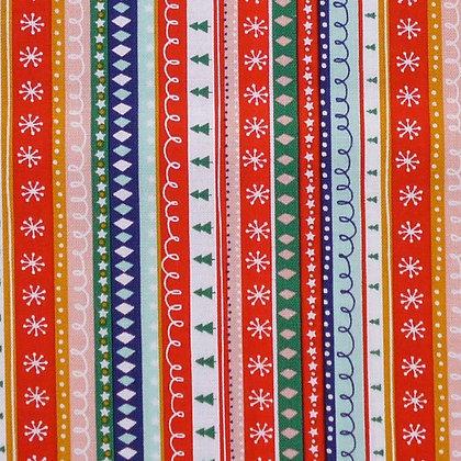 Fabric :: Festive Friends :: Multistripe