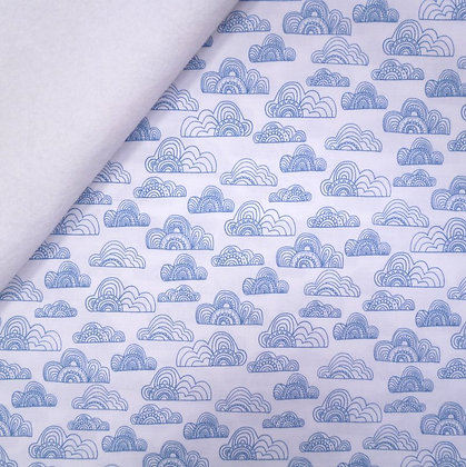 Fabric Felt :: Jungle Fever :: White Clouds on White