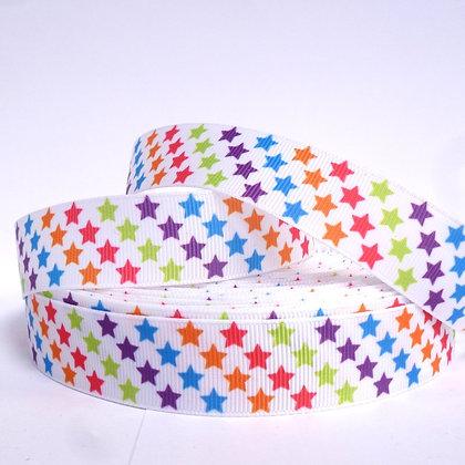 Pattern Grosgrain Ribbon :: RC Rainbow Stars