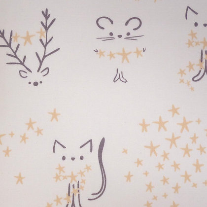 Fabric :: Little Town :: Star Animals Frosty