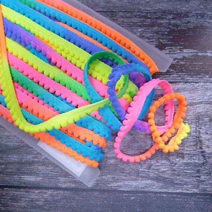 Teeny Tiny Pom Pom Trim  :: Neon Rainbow