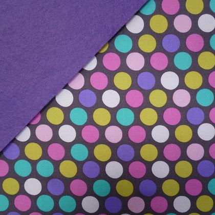 Fabric Felt :: Diddly Dot Orchid on Indigo