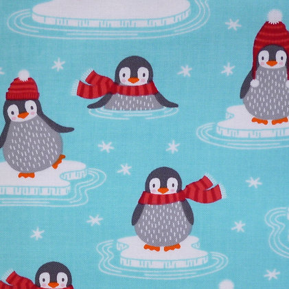 Fabric :: Polar Pals :: Turquoise Penguins