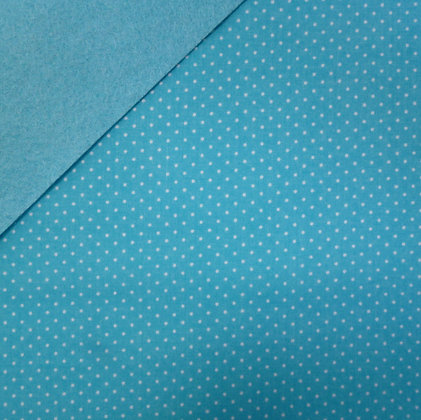 Fabric Felt :: Wide Pin Dot Bright Blue on Turquoise