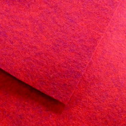 "Cardinal - Heathered Felt - 9"" square"
