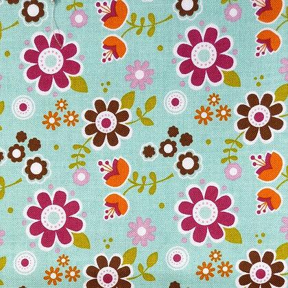 Fabric :: Matroyshka :: Aqua Flower