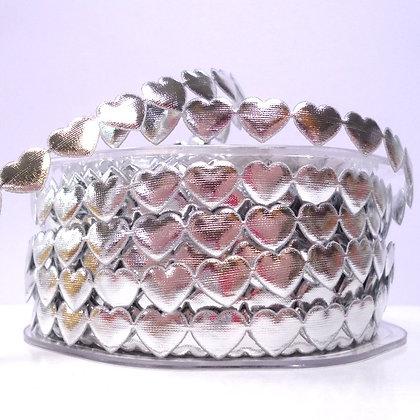 Cut Out Ribbon :: Shiny Hearts Silver