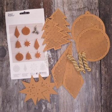 Stitchables :: Kraft & Gold Christmas Kit