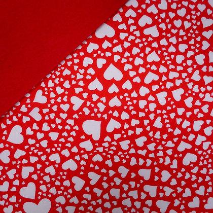 Fabric Felt :: Zillion Hearts on Red LAST FEW
