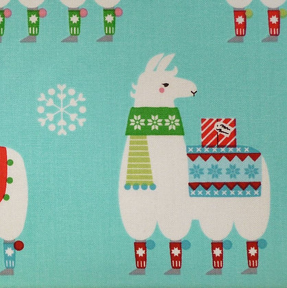 Fabric :: Llama Christmas :: Felicia (the llamas)