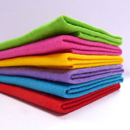 Premium Wool Felt Colour Pack :: Christmas Brights