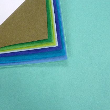 BLUE & GREENS II  Premium Wool Felt Colour Pack