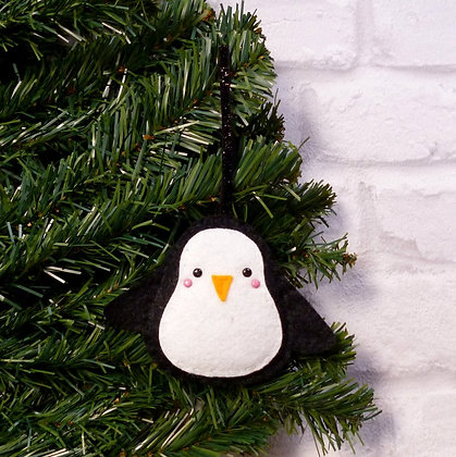 Black Penguin (Traditional) Christmas Decoration Kit