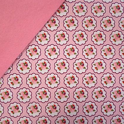 Fabric Felt :: Posy Garden Pink on Pink