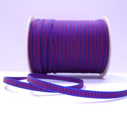 Tiny Centre Stitch Ribbon :: Blue & Red