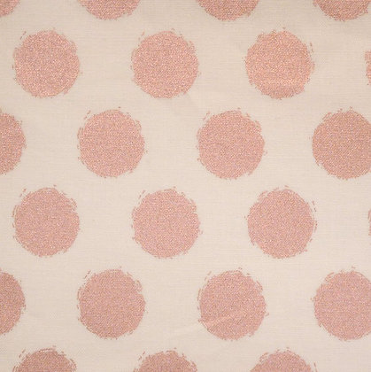 FQ SALE Fabric :: Blush :: Cream & Rose Gold Dot FAT QUARTER