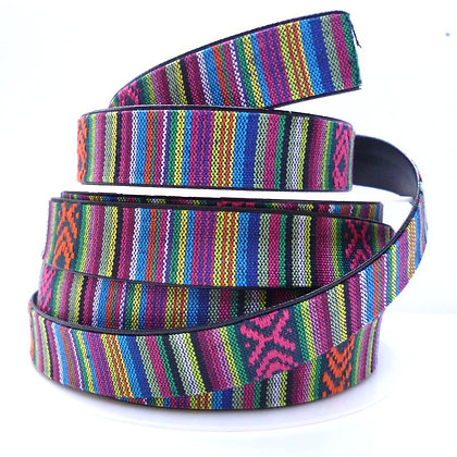 Leather Back Embroidered Trim :: Inca