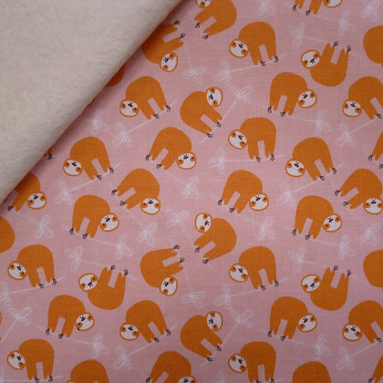 Fabric Felt :: Under The Canopy :: Sloths on Natural