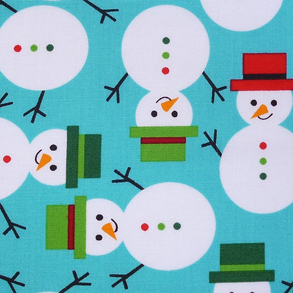 FQ SALE Fabric :: Jingle :: Snowman FAT QUARTER