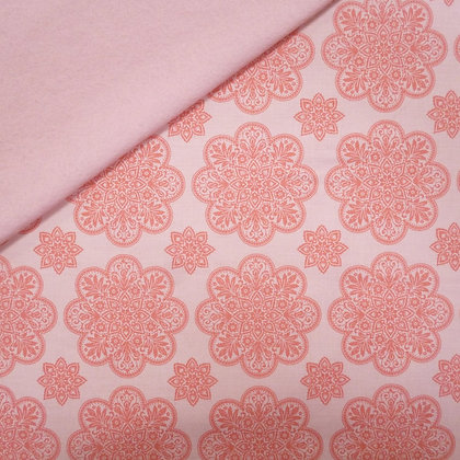 Fabric Felt :: A Little Bit Of Sparkle :: Doily on Blush