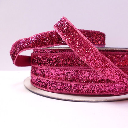 10mm LUXURY Glitter Velvet Ribbon :: Fuchsia