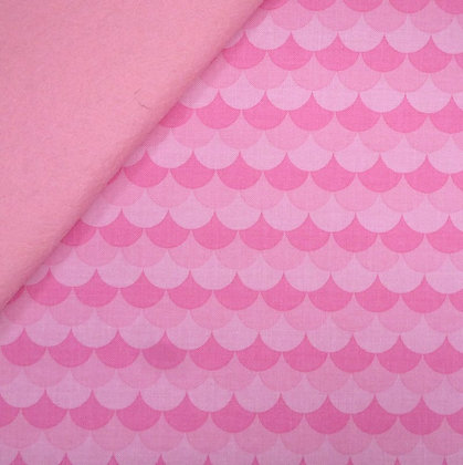 Fabric Felt :: Under The Sea :: Pink Scallop on Baby Pink