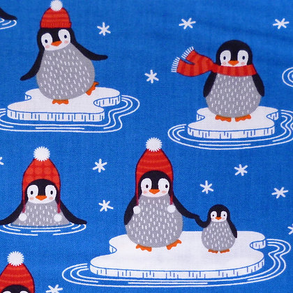 Fabric :: Polar Pals :: Deep Blue Penguins