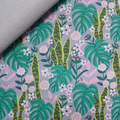 Fabric Felt :: Junglemania :: Sansevieria on Silver Grey