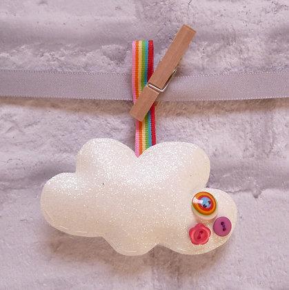 Handmade :: Fluffy Cloud :: S fine glitter & Rainbow