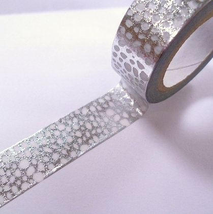 Washi Tape Roll :: Flurry Dots Silver