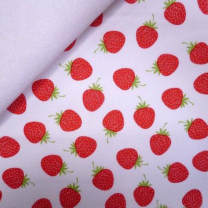 Fabric Felt :: Butterflies & Berries :: Strawberries on White