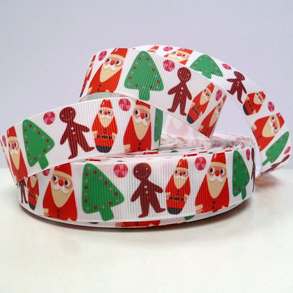 Christmas Grosgrain Ribbon :: Santa, Gingerbread & Trees