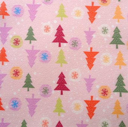 Soft Printed Felt :: Christmas Trees
