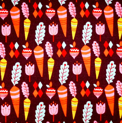 Fabric :: Vintage Kitchen :: Brown Turnips