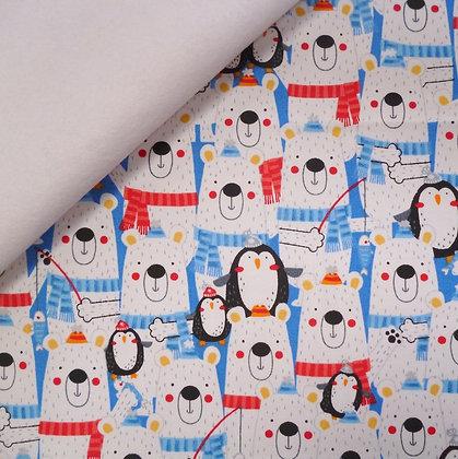 Fabric Felt :: Polar Pals II :: Polar Bear & Penguins on White