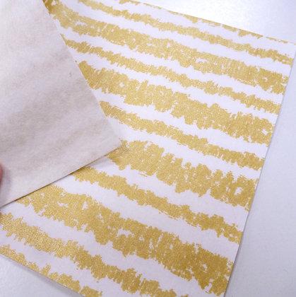 Fabric Felt :: White Glitz Bars & Natural