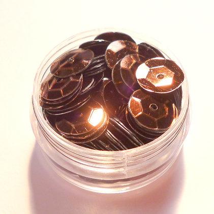 10mm Sequins :: Dark Brown